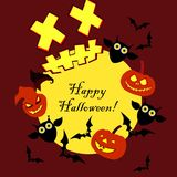 Background Happy Halloween. Halloween Party with pumpkins. Poster. Background Happy Halloween. Halloween Party with pumpkins. Poster, postcard Royalty Free Stock Photos