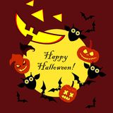 Background Happy Halloween. Halloween Party with pumpkins. Poster. Background Happy Halloween. Halloween Party with pumpkins. Poster, postcard Stock Photos