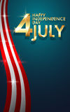 Background of Happy Independence Day, 4th of July. Vector eps10 Stock Images