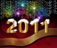 Background Happy new year 2011 stock illustration
