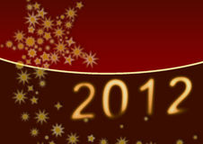 Background: Happy New Year 2012 Vector Illustration