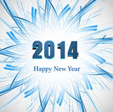 Background for Happy New Year 2014 celebration card  Royalty Free Stock Photography