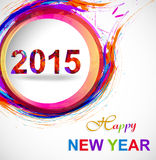 Background for Happy New Year 2015 colorful grunge. Celebration card royalty free illustration