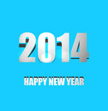Background for Happy New Year 2014 colorful. Illustration Vector Illustration