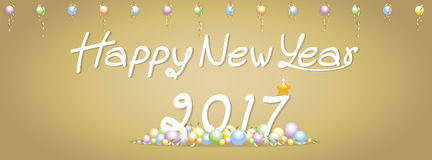 Background Happy New Year greetings Royalty Free Stock Image