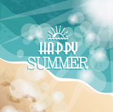 Background with Happy summer Stock Photo