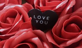Background. Happy Valentine's Day. All the love royalty free stock photos