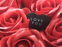 Background. Happy Valentine's Day. All the love royalty free stock photo