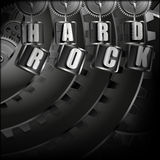 Background hard rock with metal mechanism Stock Image