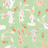 Background with hares. Background with cartoon hares royalty free illustration