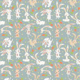 Background with hares Stock Images