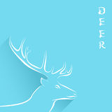 Background With Head Of Deer Royalty Free Stock Photo