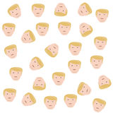 Background of the heads  Trump Royalty Free Stock Images