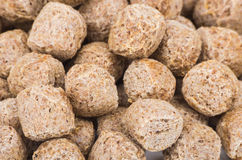 Background from heap of extruded rye bran Royalty Free Stock Photo