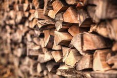 Background of Heap firewood stack natural wood. Background of Heap firewood stack, natural wood Royalty Free Stock Photos