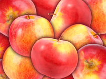 Background of heap fresh red apple Royalty Free Stock Photography