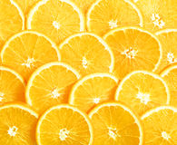Background of heap fresh yellow lemon slices. Royalty Free Stock Photo