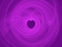 Background with heart. Abstract render background with heart in the middle Royalty Free Stock Photos