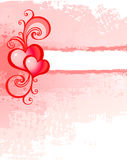 Background with heart. Pink Background with red heart and frame Royalty Free Stock Photography