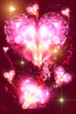 Background with a heart. Abstract color Background with a heart Royalty Free Stock Photo