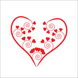 The Background heart. The Festive postcard Royalty Free Stock Images