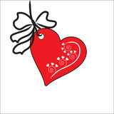 The Background heart. The Festive postcard Royalty Free Stock Image