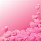 The Background heart. Stock Image