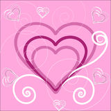 The Background heart. Stock Photography