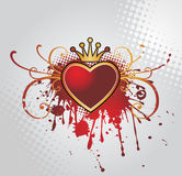 Background with heart Royalty Free Stock Photography