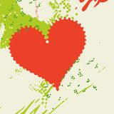 Background with heart. Grunge background with decorative heart Royalty Free Stock Photos