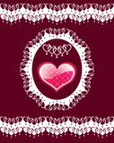 Background with heart. Vector illustration royalty free illustration