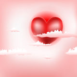 Background with heart Stock Photo