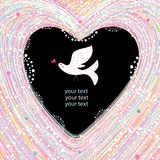 Background with heart Stock Photos