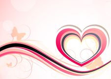 Background with heart Royalty Free Stock Photo