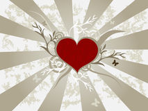 Background with heart. Royalty Free Stock Photo