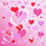 Background heart. Rose background with ensemble flying heart, texture Stock Photography