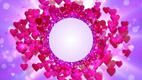 Background Heart stock video footage