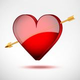 Background Heart And Arrow. Valentines Day Card. Stock Images