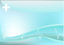 Background with heart beating line Stock Photography