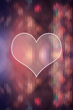 Background with heart, beautiful heart background design Royalty Free Stock Images