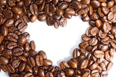 Background heart of coffee grains Royalty Free Stock Photography