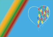 Background with heart. Consists of balloons Royalty Free Stock Photo