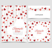 Background with heart decoration Stock Image