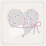 Background with heart and frame Stock Image