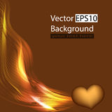 Background with heart. And gold neon, Vector Royalty Free Stock Photography