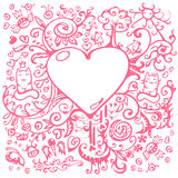 Background with heart Royalty Free Stock Photos