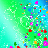Background Heart Indicates Valentine's Day And Affection Stock Image
