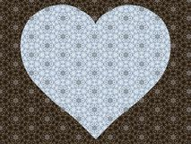 Background with a heart and a magnificent refined pattern royalty free stock image