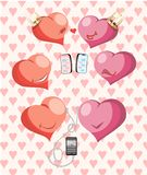 Background heart pair vector illustration