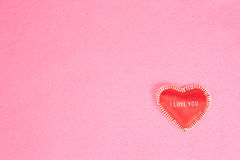 Background with heart on pink Royalty Free Stock Image